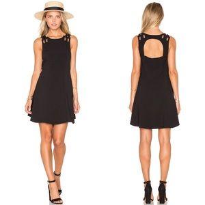 (Free People) Black Baby Love Mini Dress